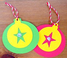 Star Power Christmas Ornaments are one of the coolest kids' Christmas crafts for your little ones to do. The vibrant colors of these homemade Christmas ornaments will liven up your entire home.   AllFreeKidsCrafts.com
