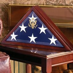 American Burial Flag Box, Large coffin flag display case. 2 size versions available. 5'x9.5' (75 dollars more)