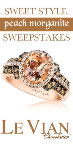 #RePin and Enter to #Win a Peach Morganite #Diamond #Ring! #jewelry #sweeps VALID UNTIL NOV 23