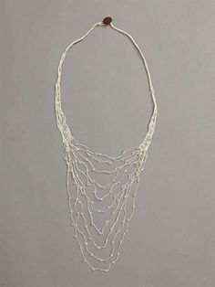 Shirley Ephraim crochet necklace created for and sold through Donna Karan