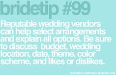 Wedding vendors are available to help with the planning process!