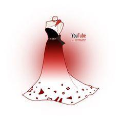 Vestidos de gala inspirados em Redes Sociais