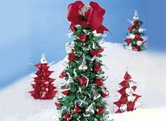 HERSHEY'S KISSES Chocolates Tree - since I just won over 500 Hershey's kisses, I need to find ways to use them up!!!