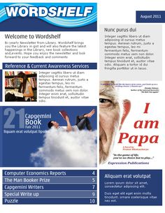 WordShelf Newsletter Template.
