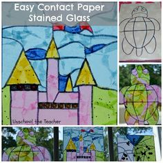 Unschool the Teacher: Princess Week: Toddler Friendly Stained Glass