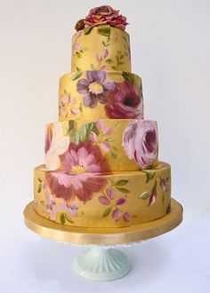 Love this idea of painting the cake....