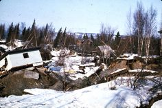 Alaska Earthquake March 27, 1964. Damaged homes at the Turnagain Heights landslide area in Anchorage. Cover (middle photo), U.S. Geological ...