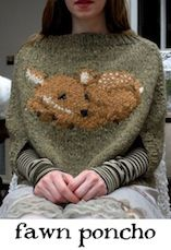 Fawn Poncho by Tiny Owl Knits