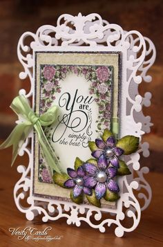 Card by Liz Walker using Spellbinders Reflective Moment Die and Heartfelt Creations Sun Kissed fleur Stamp and die, open leaf stamp and classic leaf die. Papers from Raindrops on Roses Paper pad by Heartfelt Creations.