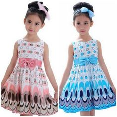 peacock girls dress