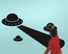 UFO Chalkboard Wall Decals! Obviously happening.
