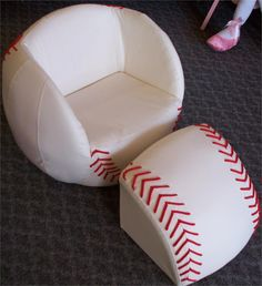 Baseball chair...now if I could just figure out where to get it or make it!