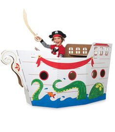 cardboard pirate ship $58 - and they have several other styles