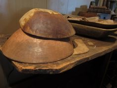 love vintage, wooden bowls