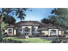 Eplans Mediterranean House Plan - A Radiant Classic Design - 2409 Square Feet and 4 Bedrooms from Eplans - House Plan Code HWEPL07614