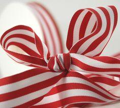 Red  white grosgrain ribbon