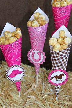 Snacks dulces para una fiesta vaquera / Sweet snacks for a cowgirl party