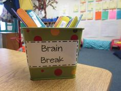 Brain Break Sticks.....Activities that take are less than one minute to keep kids on their toes and motivated