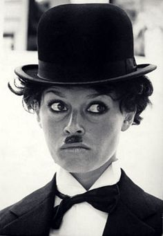 Brigitte Bardot as Charlie Chaplin