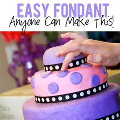 Easy Marshmallow Fondant - yes, YOU can do it! | HowDoesShe.com #fondant #dessert #cake