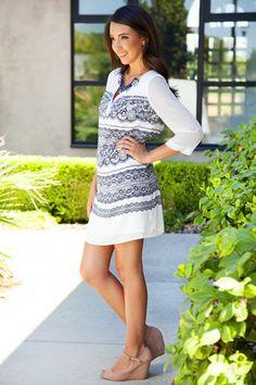 Tera Shift Dress | White Plum #lace #white #classic