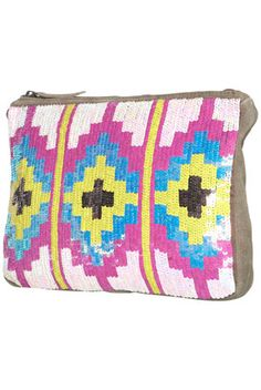 TOPSHOPAztec Sequin Clutch Bag