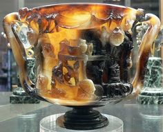 Cup of the Ptolemies - Sardonyx, from Alexandria, 1st century BCE - 1st century CE. Cabinet des Medailles, Bibliotheque Nationale, Paris. vignettes, cabinets, ancient, cups, agates, france, antiqu, egypt, september