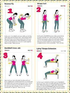 Sleek sexy arms ..women's arm exercises