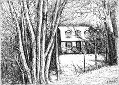 Custom Pen & Ink Drawings of your home or business by Olenik
