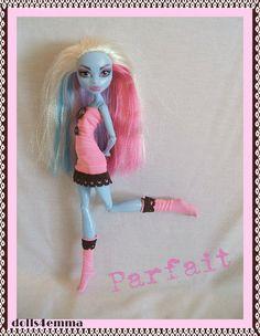 Handmade Goth Dress & Socks for MONSTER HIGH Dolls Custom Fashion Clothes