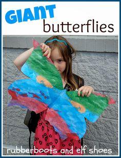 Giant butterfly wings