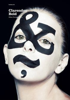 Experiencing type Makeup Art, by Atipo. #typography