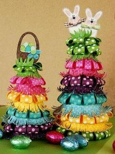 Easter ribbon tree