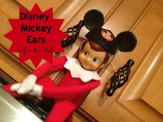 How To Make Mickey Mouse Ears for your Elf on the Shelf #DisneySide #ElfontheShelf
