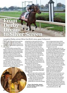 50 to 1 the movie is featured in the March issue of Horse Illustrated magazine.