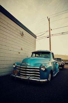 Vintage Chevy pick-up #trucks