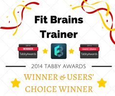 Fit Brains Trainer is the Winner AND Users' Choice Winner for the best Health & Fitness #iPad #App in the 2014 Tabby Awards! http://tabbyawards.com/2014winners  Thank you to everyone that voted for the Fit Brains app, we will continue to make the highest quality brain training products for you!  Download Fit Brains Trainer (iOS): http://taps.io/fitbrainstrainer Try the full Fit Brains Training Program: http://taps.io/fitbrains Rosetta Stone Press Release: http://bit.ly/1oDL7Aj