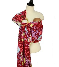 Baby Carrier Ring Sling Baby Sling  Fantasy Garden  by SnuggyBaby, $49.00