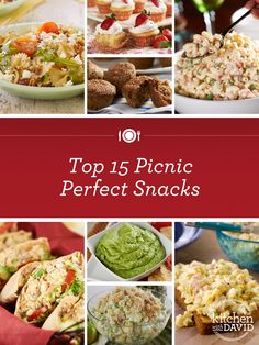 Summer to-do list: have a #picnic! Take a peek at our favorite picnic-perfect snack #recipes!