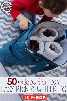 50  Fun Kids Picnic Ideas - tons of great ideas for indoor/outdoor/more!