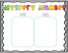 Miss Kindergarten: Mystery Number
