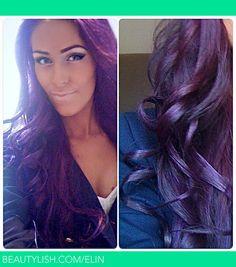 purple glaze brown hair