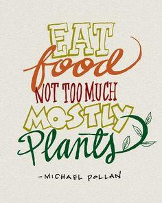 From Michael Pollan