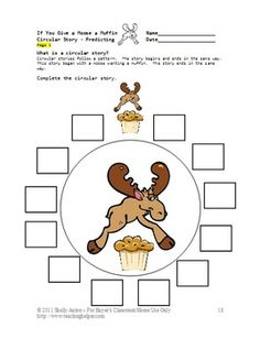 worksheets and activities based on the book, If You Give a Moose ...