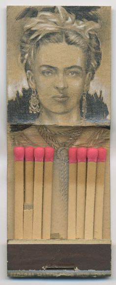 packaging:   Frida Kahlo matchbook