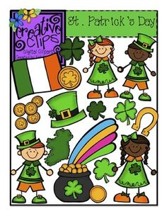 $ This 30-image bundle has everything you need for St. Patrick's Day lessons! Included in this clip art set are 17 vibrant images and 13 black and white versions.