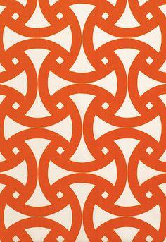 Santorini Fabric in Persimmon by Trina Turk