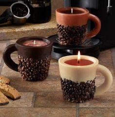 Scented Coffee Bean Mug Novelty Candles