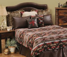 White Bird ensemble.  Warm, cozy and washable.  Perfect for a Southwest style bedroom.