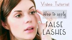 Video tutorial for how to apply fake eyelashes.  #fakeeyelashes
